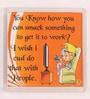 Orange Plastic & Paper Smack Something Fridge Magnet by Thoughtroad