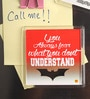 Thoughtroad Red & White Plastic & Paper Batman Quote Door Magnet