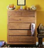 Tiber Chest of Six Drawers in Premium Acacia Finish