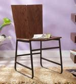 Tiber Solid Wood Dining Chair in Premium Acacia Finish