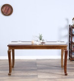 Timpson Six Seater Dining Table in Provincial Teak Finish