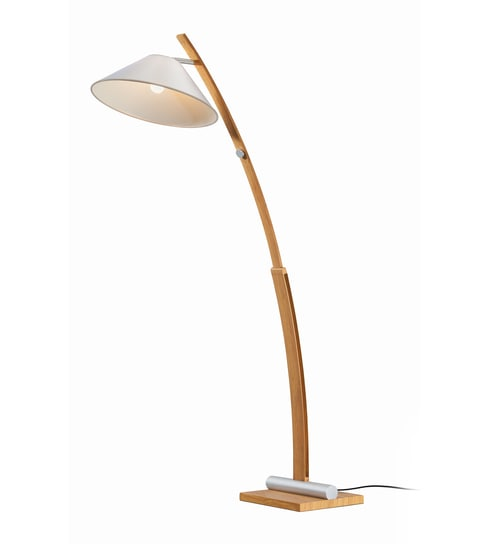 Tisva white fabric scintiller floor lamp