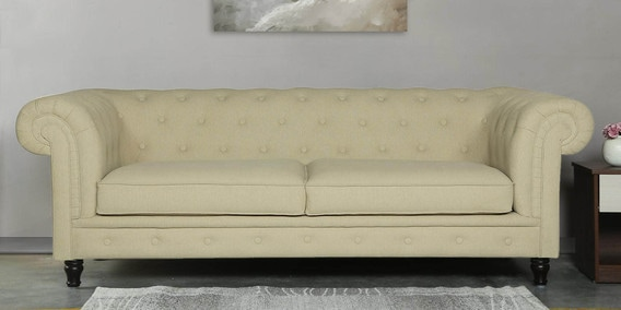 Fabulous Tierra 3 Seater Sofa In Beige Colour By Casacraft Home Interior And Landscaping Transignezvosmurscom