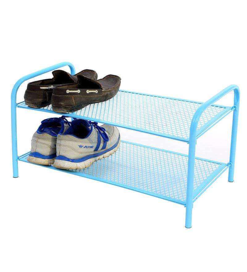 Tiara compact Iron Blue 2-Tier Shoe Rack