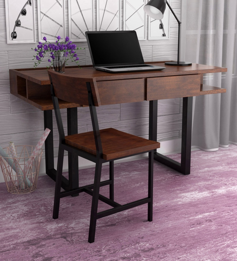 Buy Tiber Solid Wood Study Amp Laptop Table With Chair In