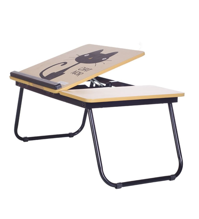 Tidyhomz Niger Steel Cat Print Laptop Table