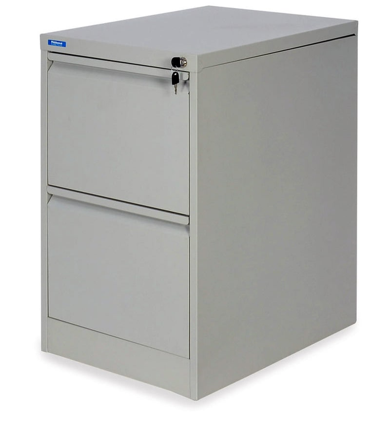 Buy Titan Two Drawer Filing Cabinet In Grey Colour By