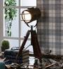 Wood & iron Tripod Lamp by Kapoor E Illuminations