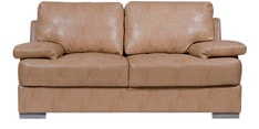 Toby Two Seater Leatherette Sofa in Beige Colour