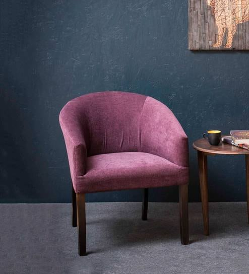 buy toby tub chair in plum fabric and walnut by inliving online