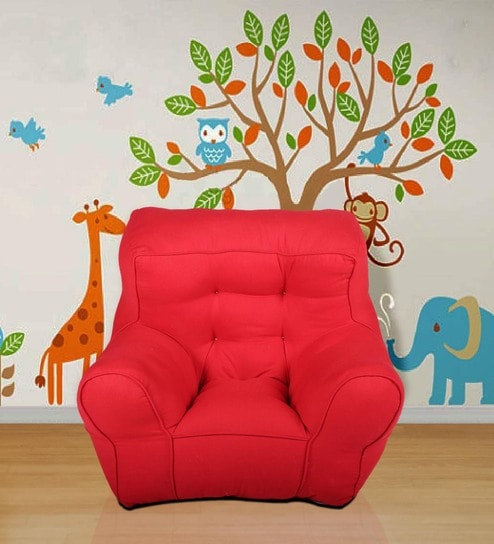 Toddler Organic Kids' Sofa in Red by Reme