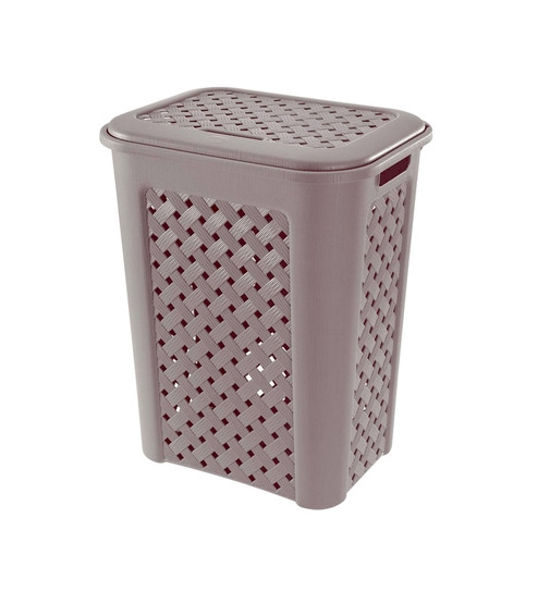Tontarelli Arianna Small Laundry Hamper Basket With Lid Grey By