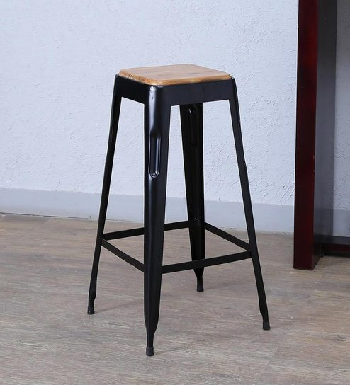 Buy Tosh Bar Stool In Black Colour By Bohemiana Online Bar Stools