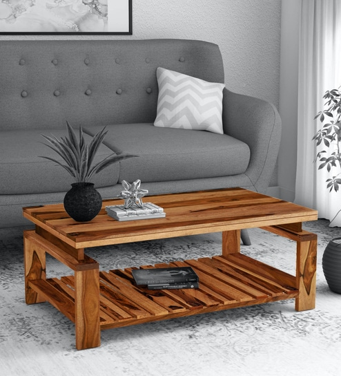 Tova Solid Wood Coffee Table In Rustic