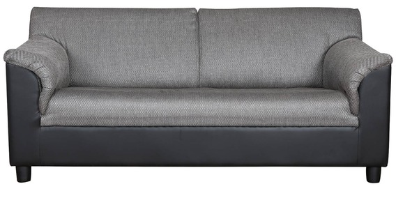 Toledo Three Seater Sofa In Black U0026 Grey Colour By Kurl On