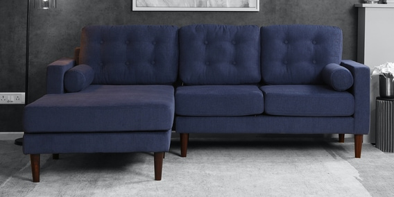 Rhs Sectional Sofa In Navy Blue Colour
