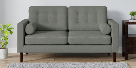 Tomas 2 Seater Sofa in Ash Grey Colour by CasaCraft