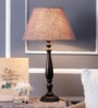 The Decor Mart Grey Jute Table Lamp