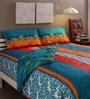 Tomatillo Multicolour Cotton Queen Size Bedding Set - Set of 4