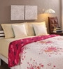 Tomatillo White & Pink Cotton Queen Size Comforter