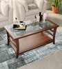 Toston Slatted Coffee Table in Honey Oak Finish by Woodsworth