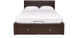 Triumph King Size Bed with Hydraulic Storage in Dark Brown Finish by @Home