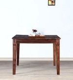 Trafford Four Seater Dining Table in Warm Rich Finish