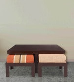 Trendy Coffee Table Set with Four Stools in Rust Delite Colour