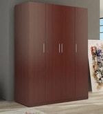 Troy Four Door Wardrobe in Asian Classic Plank Walnut Finish