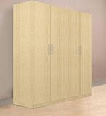 Troy Four Door Wardrobe in Asian Maple Finish