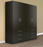 Troy Four Door Wardrobe in Asian New Country Dark Finish