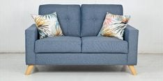 Trent Two Seater Sofa in Blue Colour