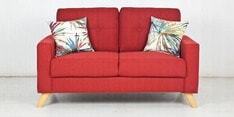 Trent Two Seater Sofa in Rust Colour