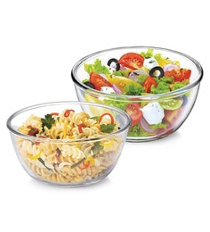 Treo Borosilicate Glass Microwave Safe Mixing Bowls - Set Of 2