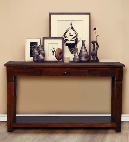 Trafford Console Table in Warm Rich Finish by Amberville