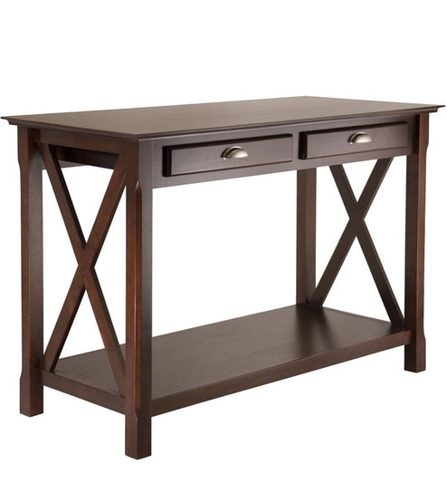 Buy Transitional Console Table In French Country Style With Storage - French country style console table