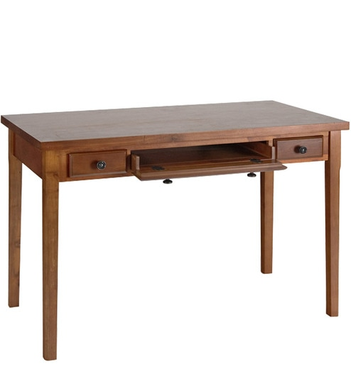 Buy Transitional Study Table With Classic Metal Hardware By Afydecor