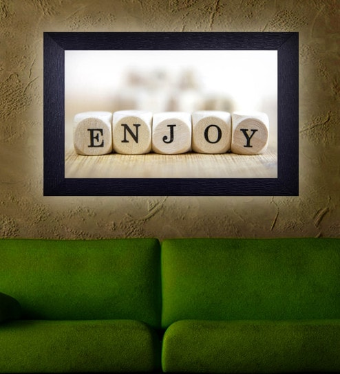 Translight Paper 15 X 0 5 10 Inch Enjoy Led Frame Digital Art Print By Decor Design