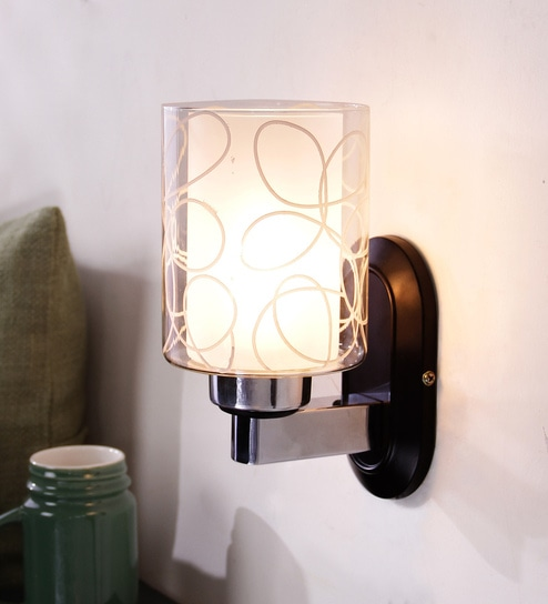 Transpa Mild Steel And Gl Wall Light By Learc Designer Lighting