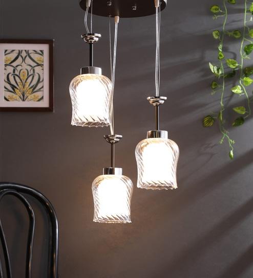 Transparent Mild Steel Hanging Light by LEARC Designer Lighting
