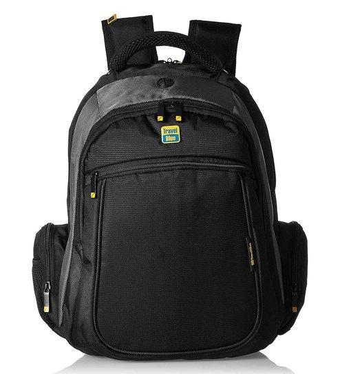Buy Travel Blue 14   Laptop Backpack Black and Grey Online - Backpacks -  Backpacks - Housekeeping   Organisers - Pepperfry Product eea5d6523c549