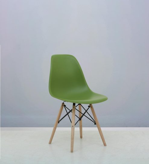 Trendy Accent Chair In Green Colour By Furnitech
