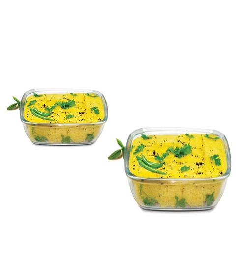 Tremendous Treo Borosilicate Glass Square Trays With Microwavable Lid Set Of 2 Onthecornerstone Fun Painted Chair Ideas Images Onthecornerstoneorg