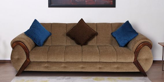 Trendy Three Seater Sofa In Cappuccino Colour By Muebles Casa