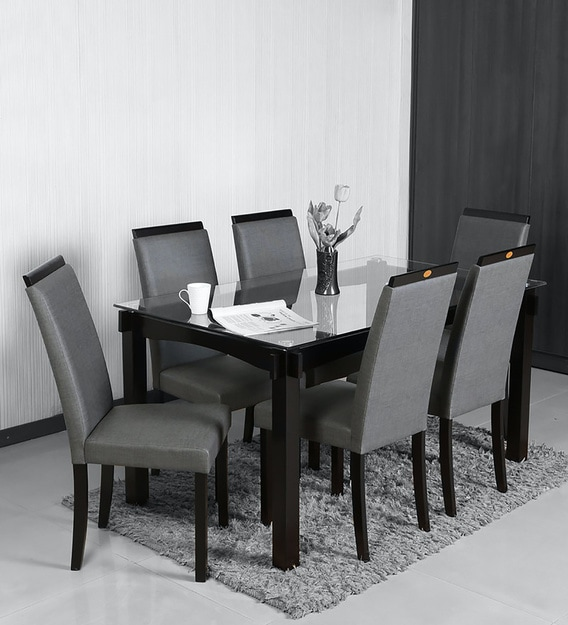 Black Dining Table Set For 6 Off 54, Black Dining Table Chairs Set Of 6