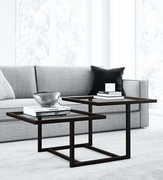 Buy Travon Coffee Table In Black Colour By Furncasa Online Square Coffee Tables Tables Furniture Pepperfry Product