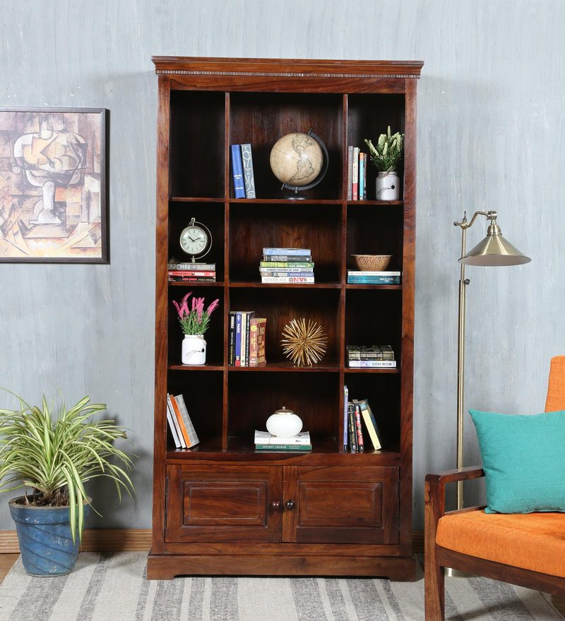 Trafford Book Shelf in Warm Rich Finish by Amberville