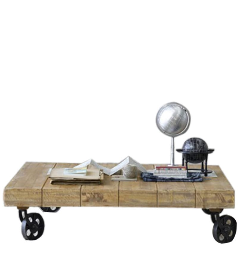 Trolley Style Coffee Table By Wood Dekor By Wood Dekor Online Contemporary Furniture