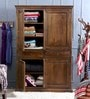 Trescott Wardrobe in Provincial Teak Finish by Amberville