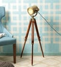 Brass Aluminium Floor Tripod by The Brighter Side